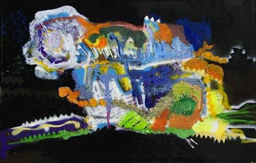 Reiner Poser, Österliche Farben, Abstract art, Neo-Expressionism, Abstract Expressionism