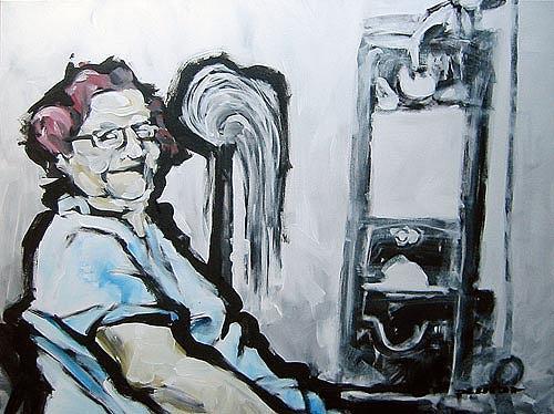 Nikolaus Pessler, Oma Rosa war 6 Jahre Putze (zu aller Zufriedenheit) in Plötzensee ..., Miscellaneous, Contemporary Art