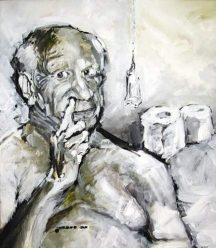 Nikolaus Pessler, Mit Picasso auf´m Klo..., Miscellaneous, Contemporary Art