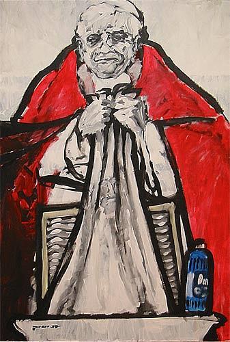 Nikolaus Pessler, Waschtag im Vatikan ..., Miscellaneous, Contemporary Art, Abstract Expressionism
