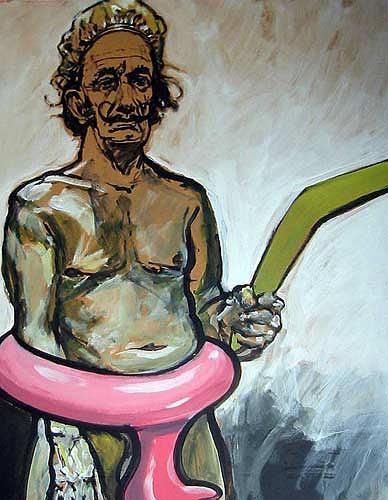 Nikolaus Pessler, Salvadors grüner Bumerang ....., Miscellaneous, Abstract Expressionism