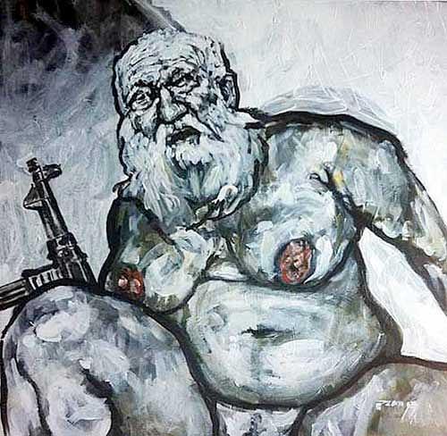 Nikolaus Pessler, Die Versuchungen des hl. Antonius ..., Miscellaneous, Contemporary Art, Abstract Expressionism