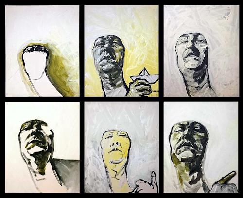 Nikolaus Pessler, Selfies ..., People: Portraits, Contemporary Art