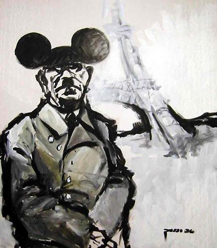 Nikolaus Pessler, Nach dem Besuch von EuroDisney Paris erwägte Hitler ein generelles Rauchverbot in ganz Eurrrropa...., Miscellaneous Emotions, Miscellaneous People, Contemporary Art