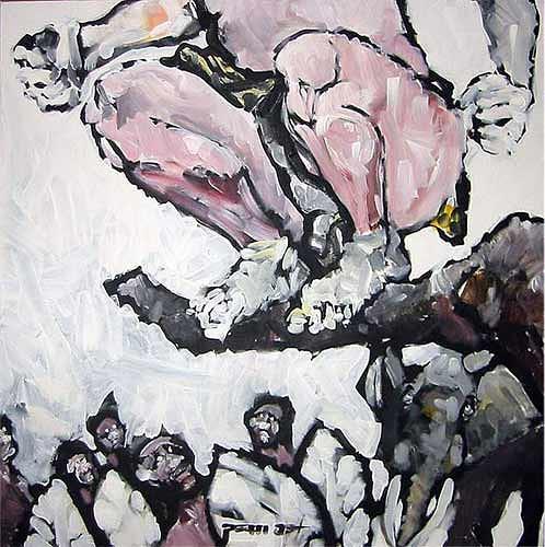 Nikolaus Pessler, Tarzan kackt auf die Wabumbas ..., Miscellaneous, Contemporary Art, Abstract Expressionism