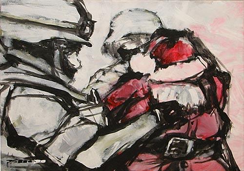 Nikolaus Pessler, Illegaler Einwanderer geschnappt..., Miscellaneous, Contemporary Art, Abstract Expressionism