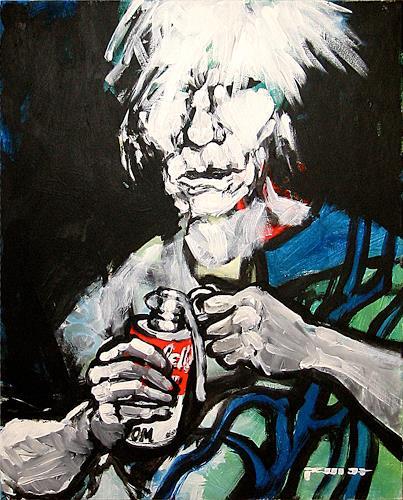 Nikolaus Pessler, Warhol was a fuckin taliban ..., Miscellaneous, Contemporary Art, Abstract Expressionism