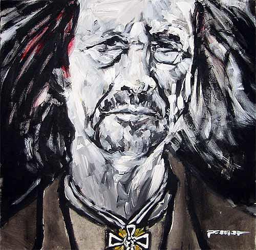 Nikolaus Pessler, Handke erhält anlässlich seines 65sten das Mutterkreuz in Gold ..., Miscellaneous, Contemporary Art