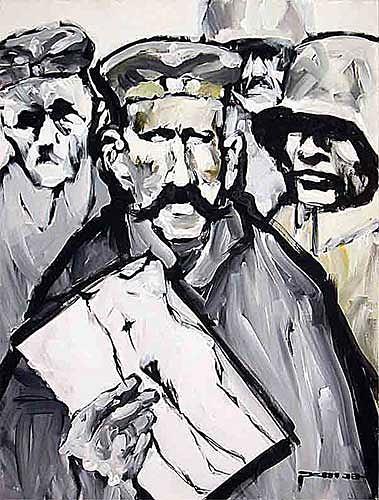 Nikolaus Pessler, Mäßig begabter Gefreiter zeichnet für Kameraden Onaniervorlagen ..., Miscellaneous, Contemporary Art