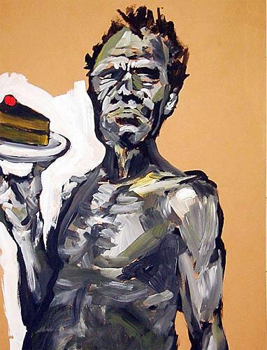 Nikolaus Pessler, ... wenn sich Neger kein Brot mehr leisten können, sollen Sie doch Kuchen essen ..., Miscellaneous, Contemporary Art, Abstract Expressionism