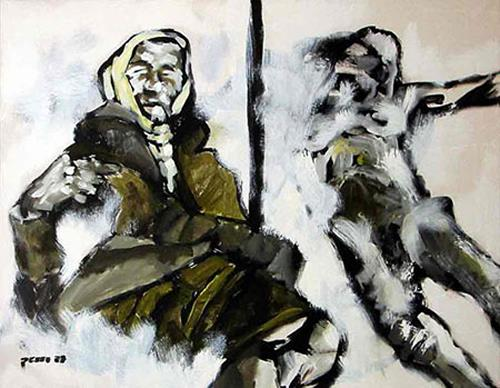 Nikolaus Pessler, Fehlersuchbild, People: Faces, Miscellaneous Emotions, Contemporary Art, Abstract Expressionism