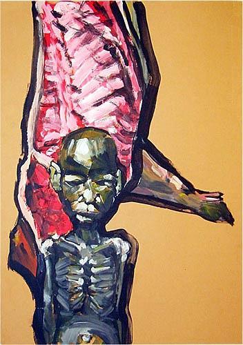 Nikolaus Pessler, ...Mit unseren Steuergeldern höchst supventionierte Schweinefleischexporte -, Miscellaneous, Contemporary Art