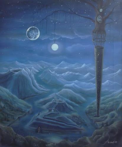 Weiß Stefan, Zauberturm, Fantasy, Mythology, Romanticism, Expressionism