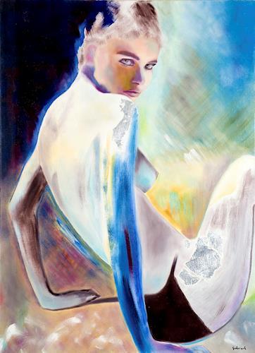 FrederiqueK, Sable, Erotic motifs: Female nudes, Fantasy, Contemporary Art, Expressionism