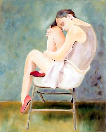 FrederiqueK, Nimbes, Emotions: Grief, Contemporary Art, Expressionism