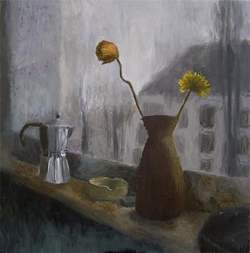 Katrin Ginster, küchenfenster 2, Still life, Emotions: Depression, Contemporary Art, Abstract Expressionism