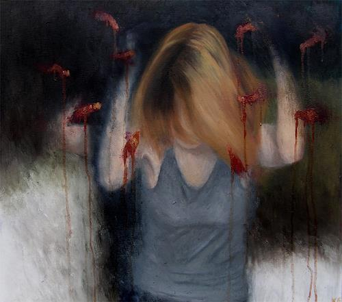 Katrin Ginster, Gedankengift 2, Emotions: Fear, Death/Illness, Contemporary Art, Abstract Expressionism