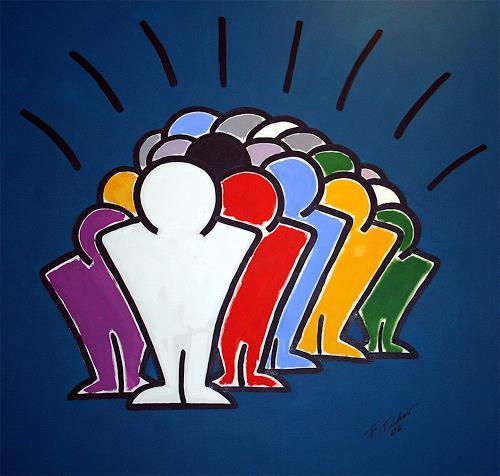 Francis Tucker, Public Viewing, People: Group, Pop-Art