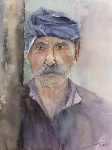 Berthold M. Rubenbauer, Der Grieche - Kaló taxidi, People: Portraits, People: Portraits, Expressionism