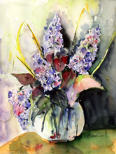 Berthold M. Rubenbauer, lila Flieder, Plants: Flowers, Plants: Flowers, Contemporary Art