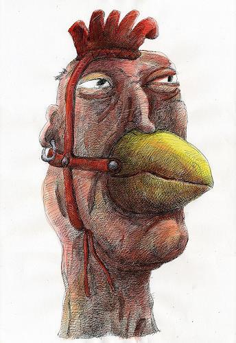 Walter  Rieseder, Kopfgeschichten 03, Miscellaneous People, Burlesque, Abstract Expressionism