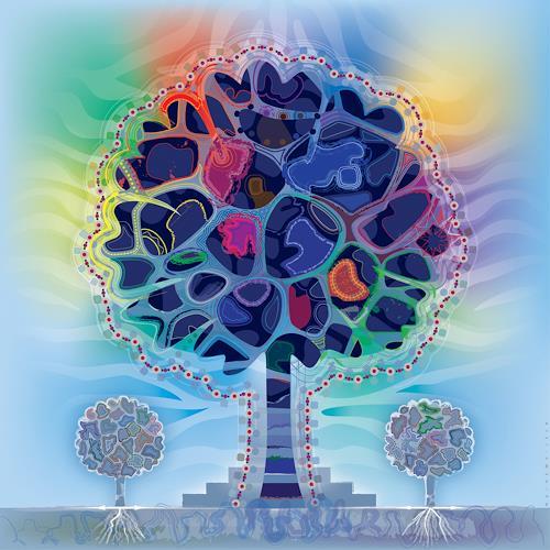 Bernd Wachtmeister, Memorial Tree   Gedenkbaum, Plants: Trees, Symbol, Contemporary Art, Expressionism