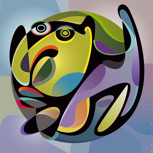Bernd Wachtmeister, Geballt hilflos | Agglomerate Helpless, Symbol, Society, Cubism