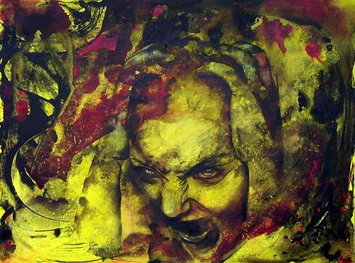 Romy Campe, Lasst mich in Frieden!, Emotions: Fear, Miscellaneous People, Contemporary Art, Abstract Expressionism