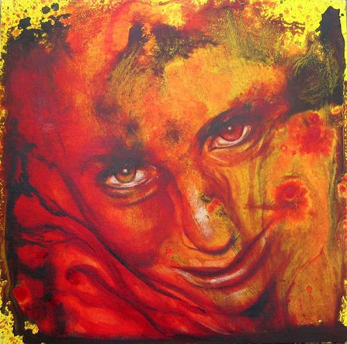 Romy Campe, Das letzte Mal 1, Miscellaneous Emotions, People: Faces, Contemporary Art, Abstract Expressionism