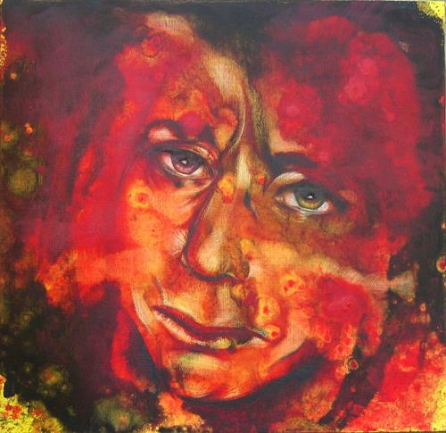 Romy Campe, Das letzte Mal 2, Miscellaneous Emotions, People: Faces, Contemporary Art, Abstract Expressionism