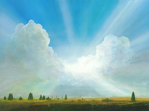 Silvian Sternhagel, Wolkenbrücke, Fantasy, Nature: Air, Contemporary Art