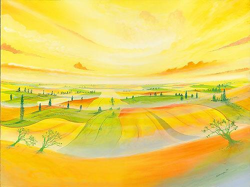 Silvian Sternhagel, Wellungen, Fantasy, Landscapes: Hills, Surrealism