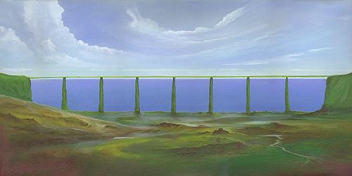 Silvian Sternhagel, Horizontlinie, Fantasy, Landscapes: Hills, Modern Times