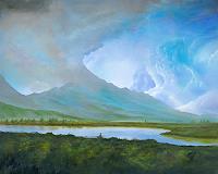 Silvian-Sternhagel-Landscapes-Mountains-Landscapes-Summer-Modern-Age-Impressionism