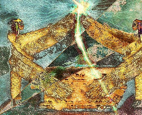 Mérovée, Flamme des sich wendenden Schwertes, Mythology, Abstract art, Contemporary Art
