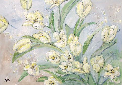 Ute Heitmann, Tulpen, weiß, Plants: Flowers, Plants: Flowers, Contemporary Art