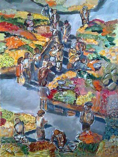 Ute Heitmann, Markt Obst&Gemüse, Market, Miscellaneous People, Contemporary Art
