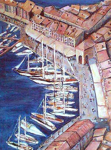 Ute Heitmann, Saint Tropez, Landscapes: Sea/Ocean, Interiors: Cities, Contemporary Art