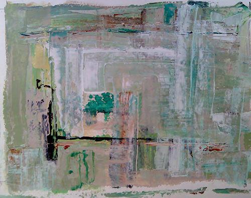 Ute Heitmann, absrakt gruen, Abstract art, Poetry, Contemporary Art