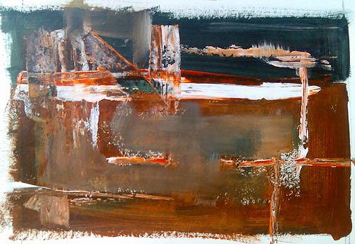Ute Heitmann, orange abstrakt, Abstract art, Fantasy, Contemporary Art