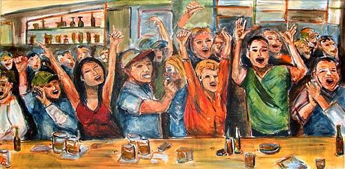 Ute Heitmann, Begeisterung, People: Group, Emotions: Joy, Contemporary Art