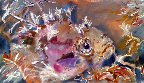 Ute Heitmann, clipfish II, Animals: Water, Contemporary Art, Expressionism