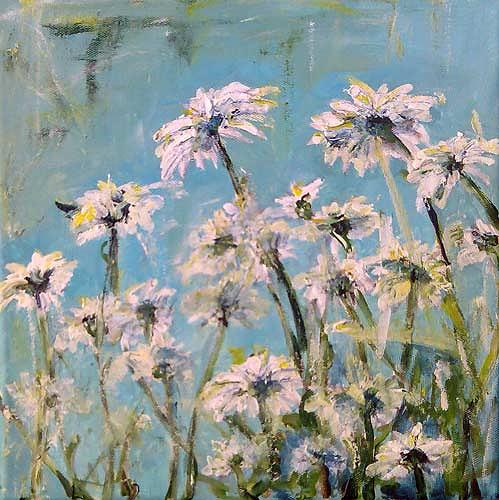 Ute Heitmann, Margeriten I, Plants: Flowers, Contemporary Art, Expressionism