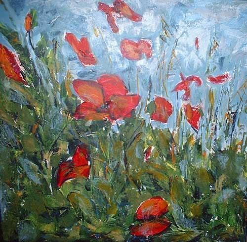 Ute Heitmann, Mohn II, Plants: Flowers, Contemporary Art