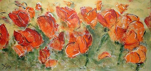 Ute Heitmann, Mohn I, Plants: Flowers, Contemporary Art