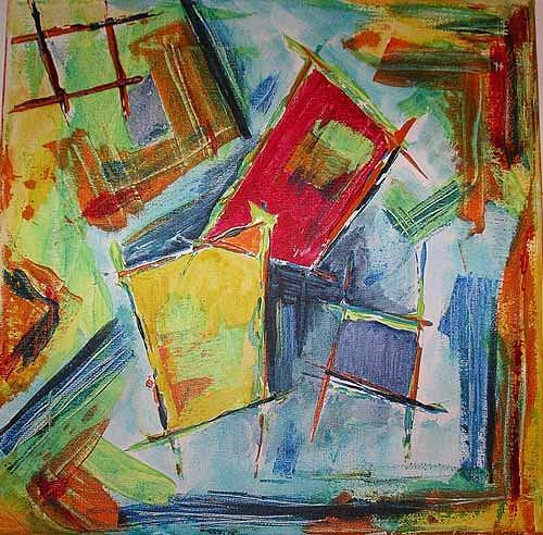 Ute Heitmann, Abstrakt I, Abstract art, Contemporary Art