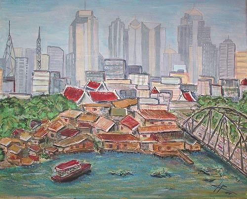Ute Heitmann, Bangkok, Architecture, Buildings: Skyscrapers, Contemporary Art