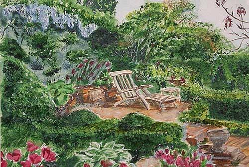 Ute Heitmann, Garten I, Leisure, Plants: Flowers, Contemporary Art