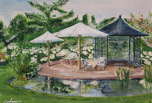 Ute Heitmann, Garten II, Leisure, Plants: Flowers, Contemporary Art