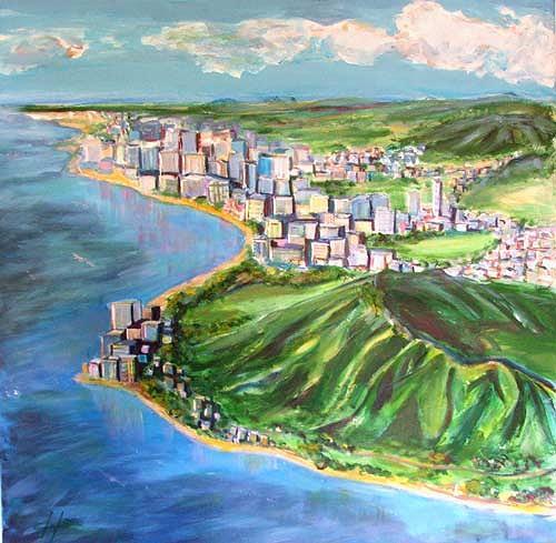Ute Heitmann, Diamant Head, Waikiki Hawaii, Architecture, Landscapes: Sea/Ocean